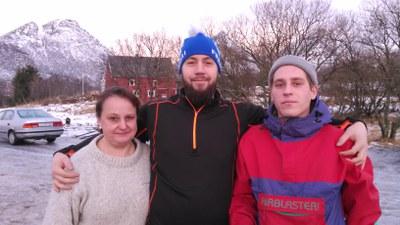 Tiu, my brother Patrik and Dani, the new guy.